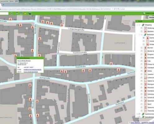 Stadtplan Bocholt online