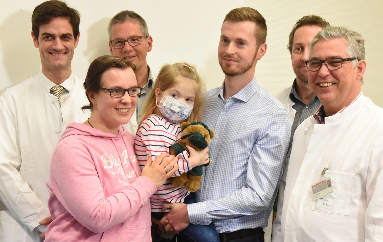 """""""Kunstherz"""" rettet 4-jähriger Nina aus Bocholt bis zur glücklichen Transplantation das Leben"""
